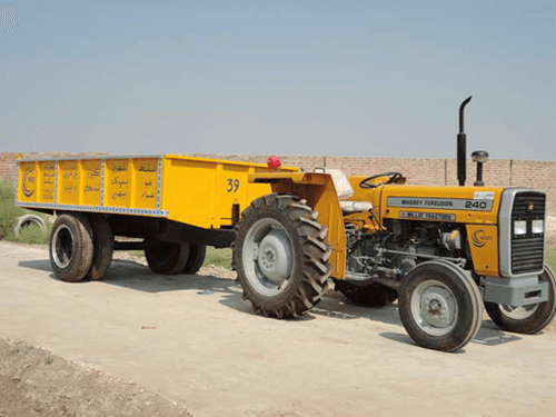 tractor trolley agri transportation
